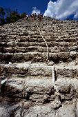 The Stairs Of Coba' Temple