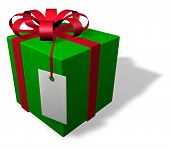 Single Christmas Package With Tag