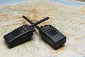 Radio Wireless For Emergency And Exploration With Map