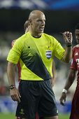 VALENCIA - NOVEMBER 20: Referee Howard Webb during UEFA Champions League match between Valencia CF a