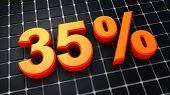 Trinta e cinco por cento