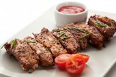Hot Meat Dishes - Pork Ribs with Tomatoes