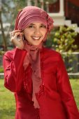 picture of arabic woman  - Portrait of a Young Muslim Business Woman - JPG