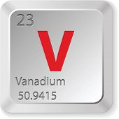stock photo of vanadium  - vanadium element - JPG