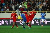 YEREVAN - OCT. 12:Henrikh Mkhitaryan  of Armenian National Team during the match Armenia-Italy 1:3 2