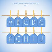 Blue alphabet set vol.1