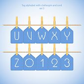 Blue alphabet set vol.3