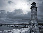 Old Venetian Lighthouse Of Rethimno. Island Crete, Greece
