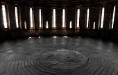 Dark Castle Tower Round Room Interior