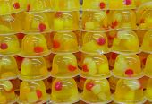 Close-up fruit jelly