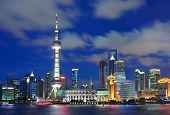 Beautiful Shanghai Pudong skyline at dusk in Shanghai, China