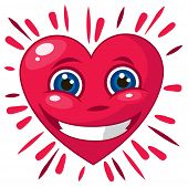 3D Smiling Heart vector illustration
