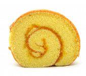 bolo de rolo no fundo branco