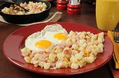 Ham Eggs And Hash Browns