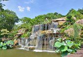 Chinese Garden Waterfall