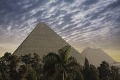 stock photo of the great pyramids  - The Great Pyramids - JPG
