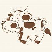 vintage cartoon cow