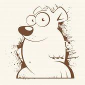 vintage cartoon bear