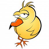 funny lazy cartoon bird