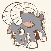 vintage cartoon goat