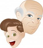 grandpa and grandson cartoon