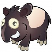 funny cartoon tapir