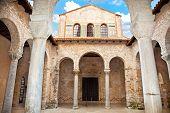 Basílica de Eufrasio en Porec, Istria, Croacia.