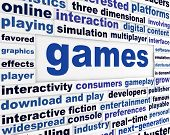 picture of arcade  - Games technological words poster - JPG