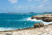 Scenic Ocean Coastline At Devil's Bridge Antigua