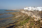stock photo of asilah  - Moroccan town Asilah at the Atlantic Ocean Coast - JPG