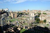Foro Romano In Rome, Italy