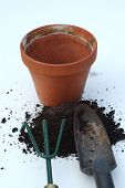 Flower Pot And Tools