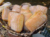 Fresh buns in a basket