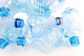 Plastic bottle close up