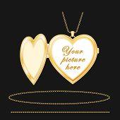 Engraved Gold Heart Locket