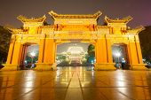 Chongqing Great Hall of People at night in China