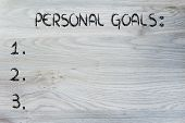 Empty List Of Personal Resolutions And Self Improvement Goals