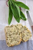 Fresh wild garlic bread