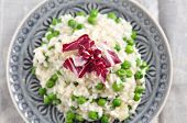 Pea Risotto with Radicchio Salad