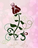 Abstract rose flower on pinky background illustration.
