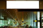 Blank Billboard At Airport