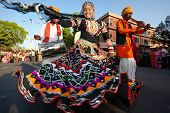 RAJASTHAN, INDIA - MARCH 30, 2009: people celebrating the god who protect them in the Gangaur festiv
