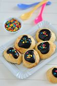 picture of jimmy  - Home made Cookies with Sprinkles on a plate - JPG