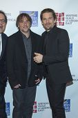 NEW YORK-FEB 1: Actor Ethan Hawke (R) and director Richard Linklater attend the 66th Annual Writers
