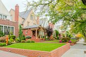 stock photo of brownstone  - Brownstones in Bay Ridge - JPG