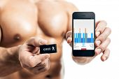 activity tracker muscular sports man
