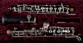 picture of aerophone  - Oboe in case with red velvet  Closeup Studio Shot - JPG
