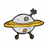 cartoon flying saucer