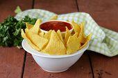 corn tortilla chips in a bowl