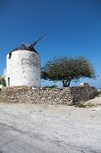 Windmill On Paros Island